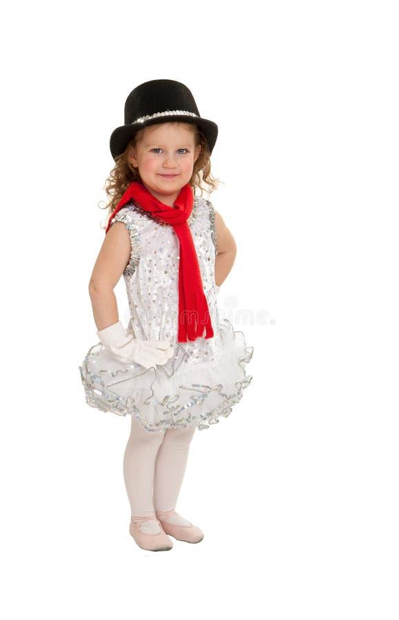 微小的芭蕾舞女演员冬天节日 免版税图库摄影