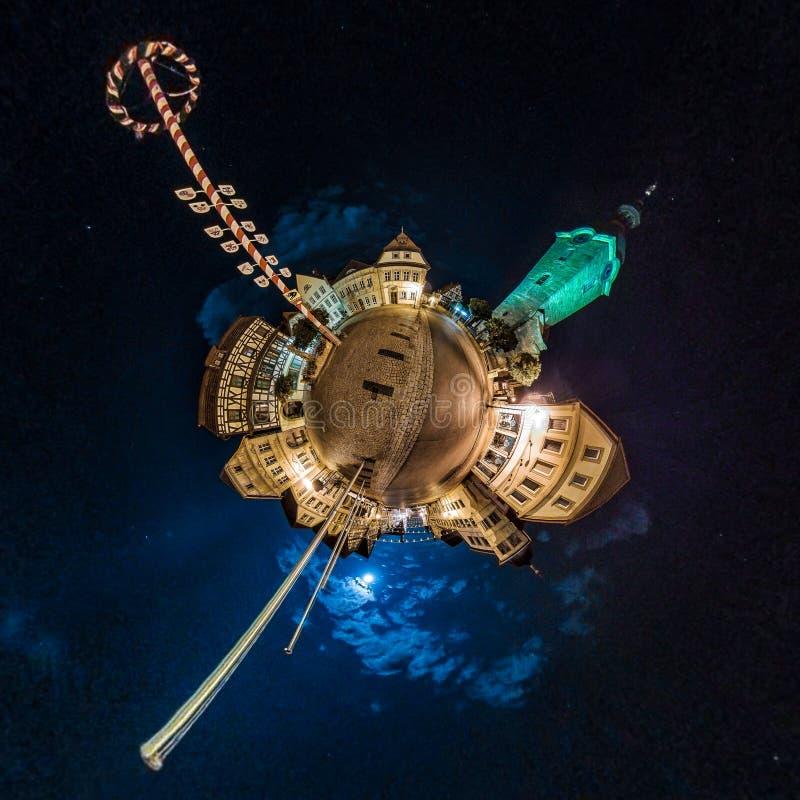微小的行星在午夜 免版税图库摄影