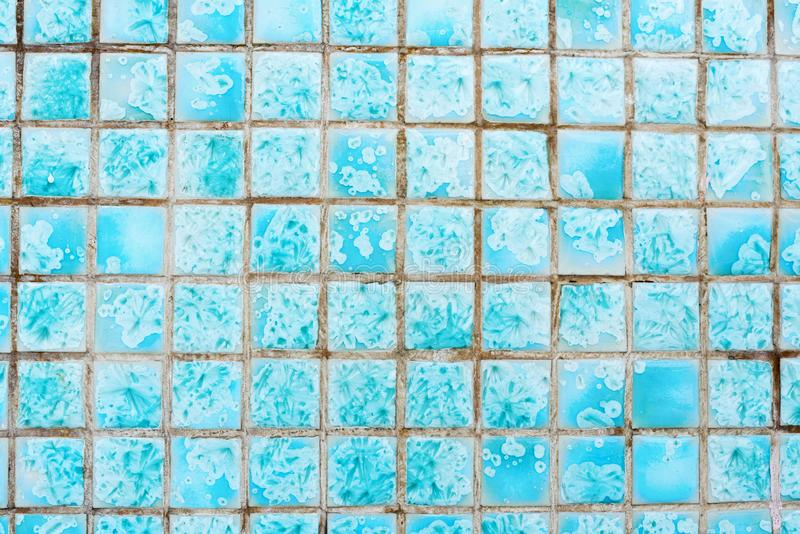 微小的街道瓦片蓝色 外部纹理 免版税库存图片