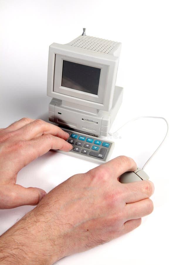 微小的计算机 图库摄影