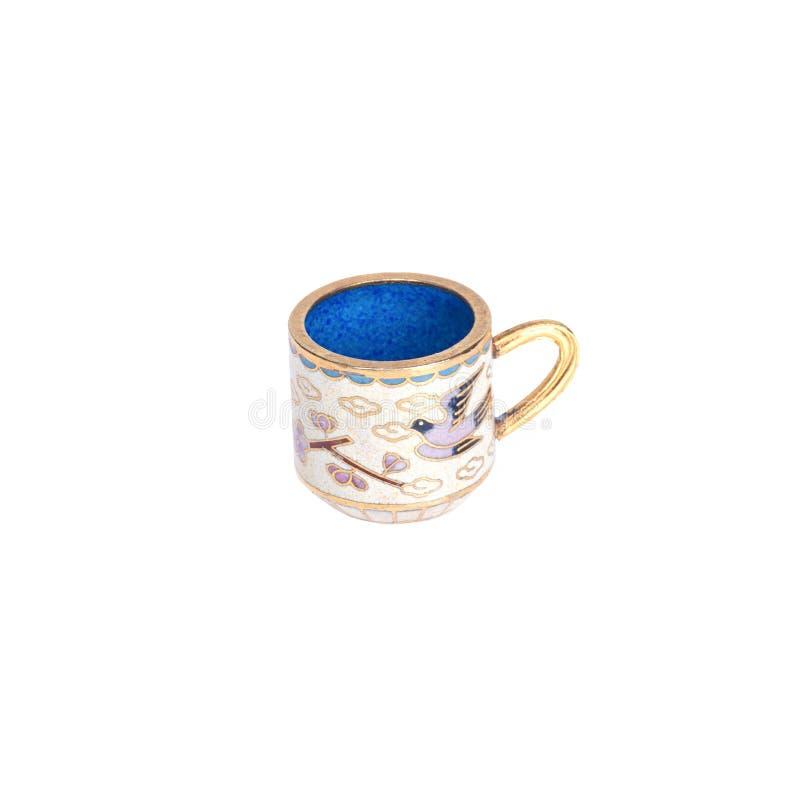 微小的陶瓷杯子 库存图片