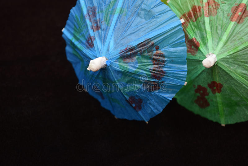 微小的饮料伞 免版税库存图片