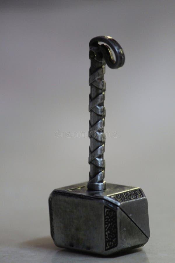 微摄影的托尔锤子 库存照片