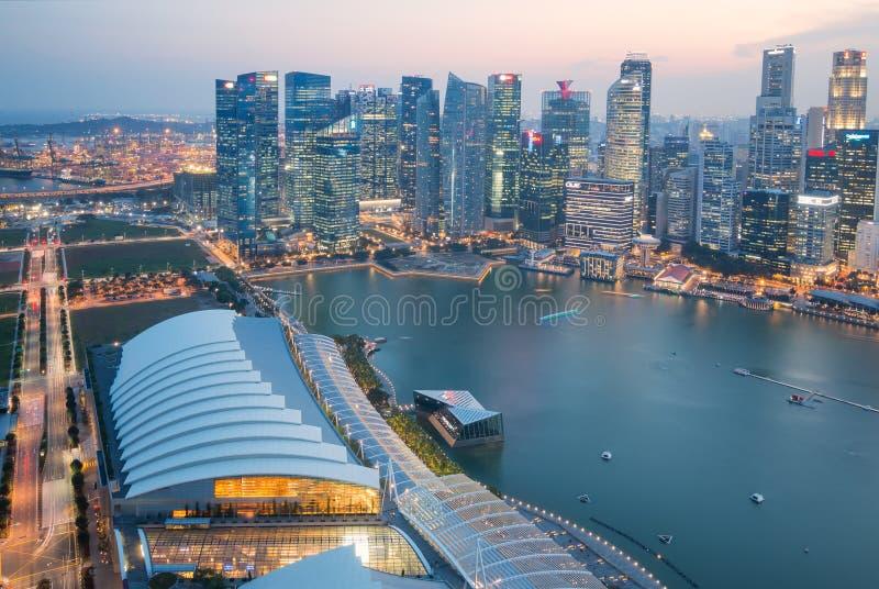 微明的新加坡市 免版税图库摄影