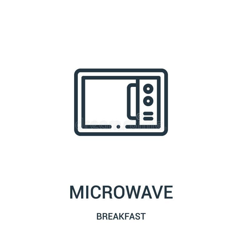 微波从早餐汇集的象传染媒介 稀薄的线微波概述象传染媒介例证 向量例证