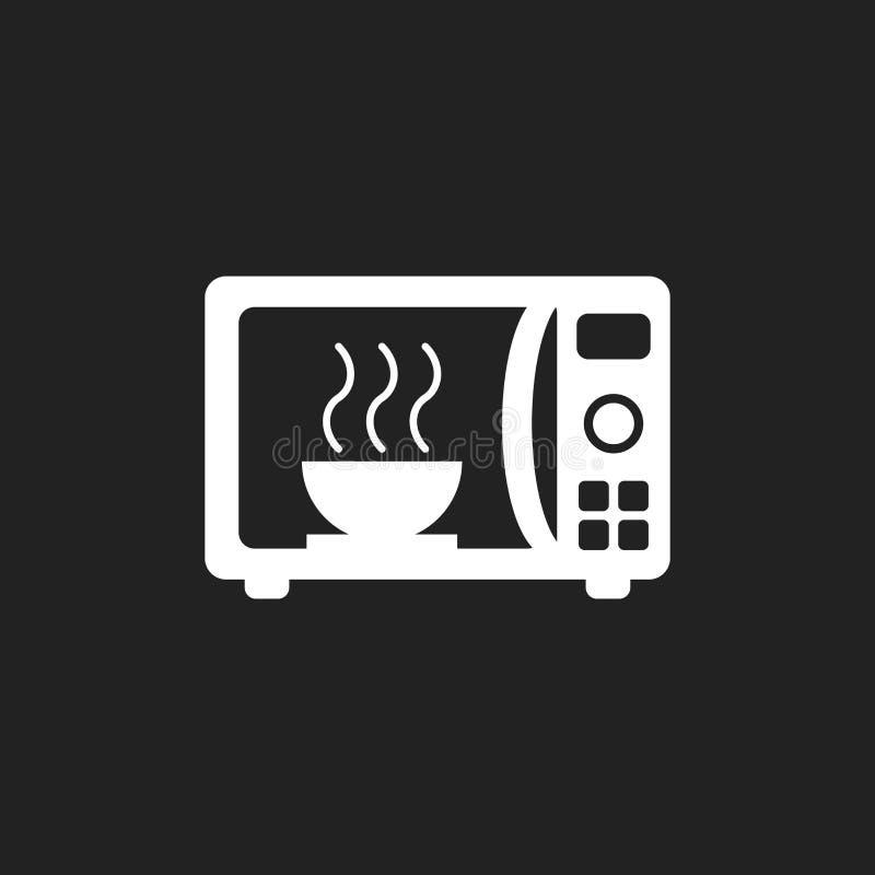 微波平的传染媒介象 微波炉标志商标illustrat 库存例证