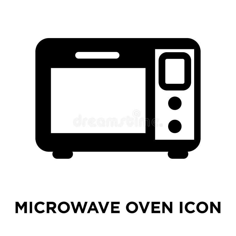微波炉在白色背景隔绝的象传染媒介,商标co 库存例证