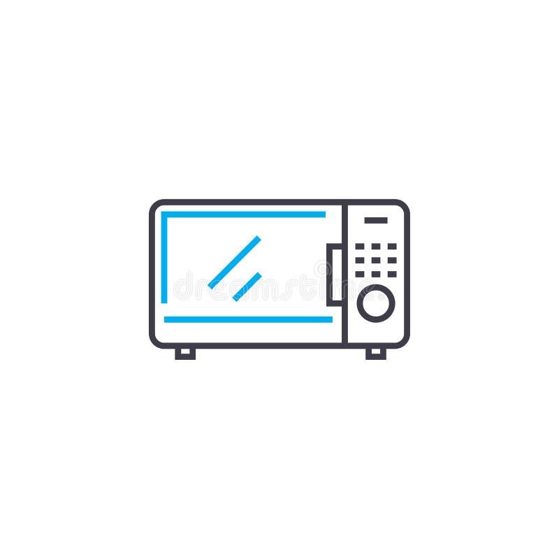 微波炉线性象概念 微波炉线传染媒介标志,标志,例证 向量例证