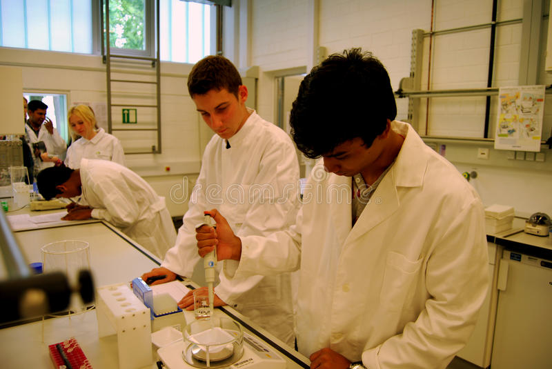 微生物学实验室 免版税库存照片