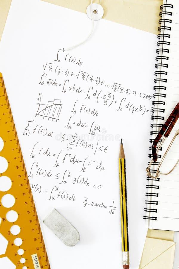 微积分积分式 免版税图库摄影