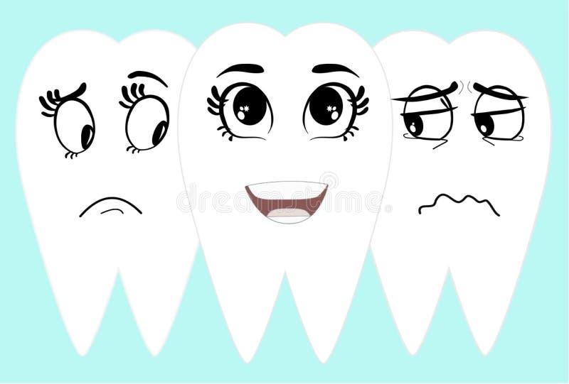 微笑与白色干净的牙 免版税库存图片