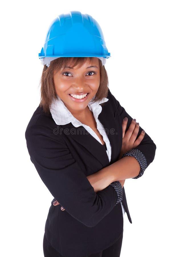非裔美国人的妇女建筑师 免版税库存照片