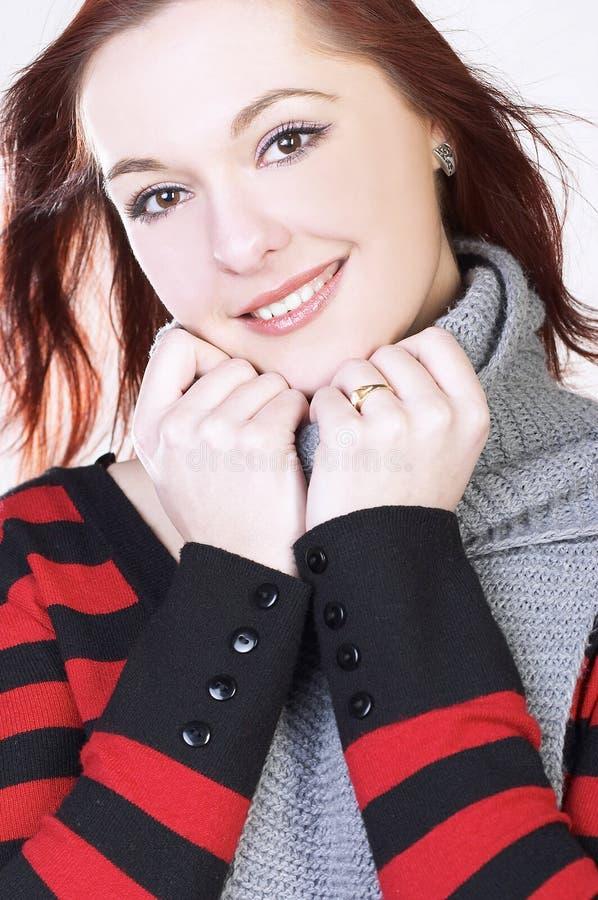 微笑妇女年轻人 库存图片
