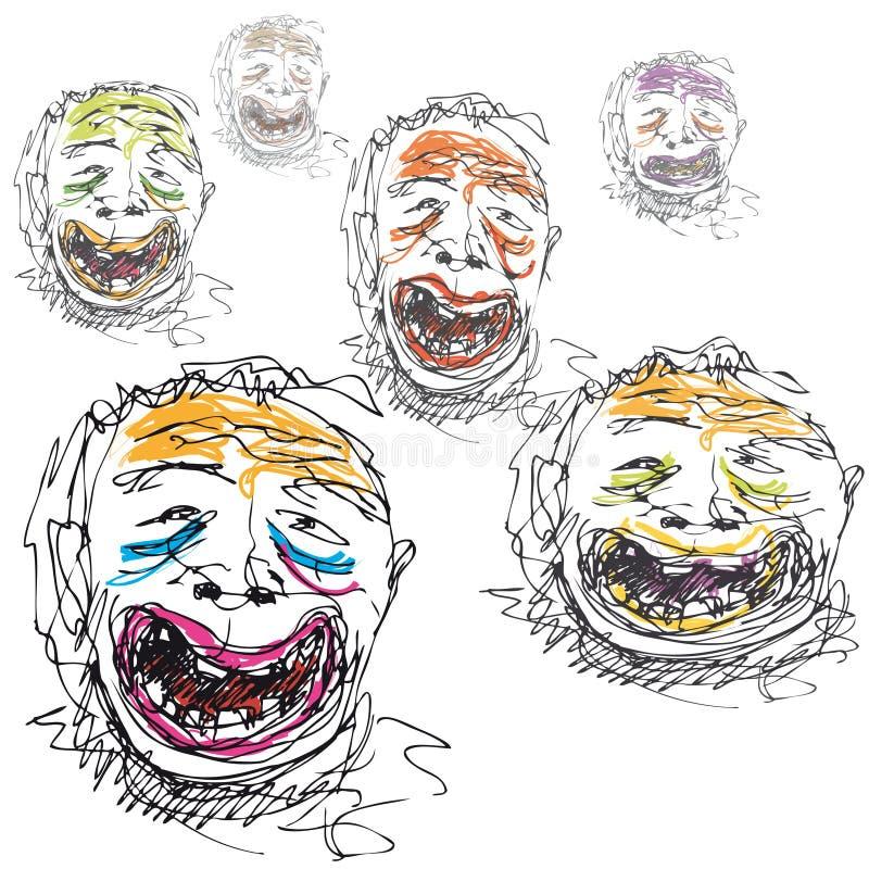 微笑愚笨的向量 向量例证