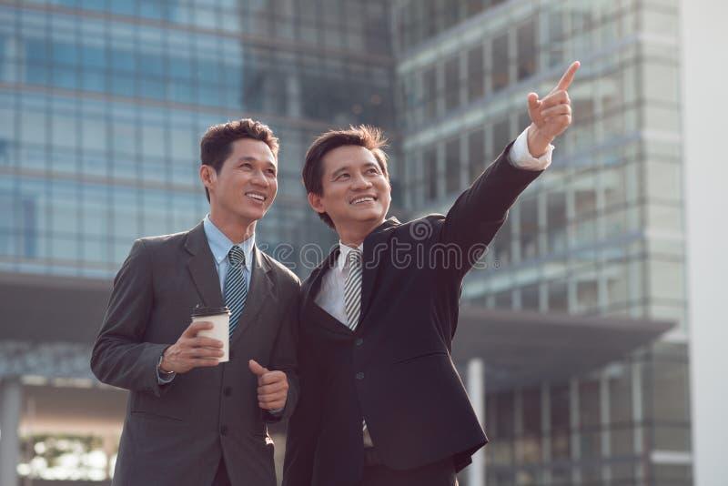 微笑的业务伙伴 库存图片