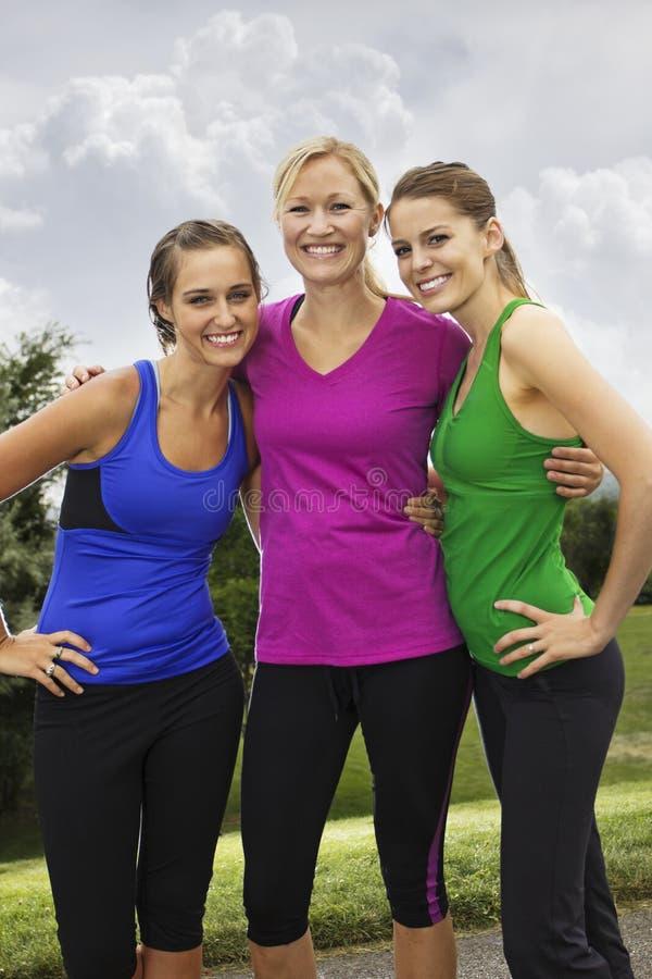 微笑的健康健身妇女 库存图片