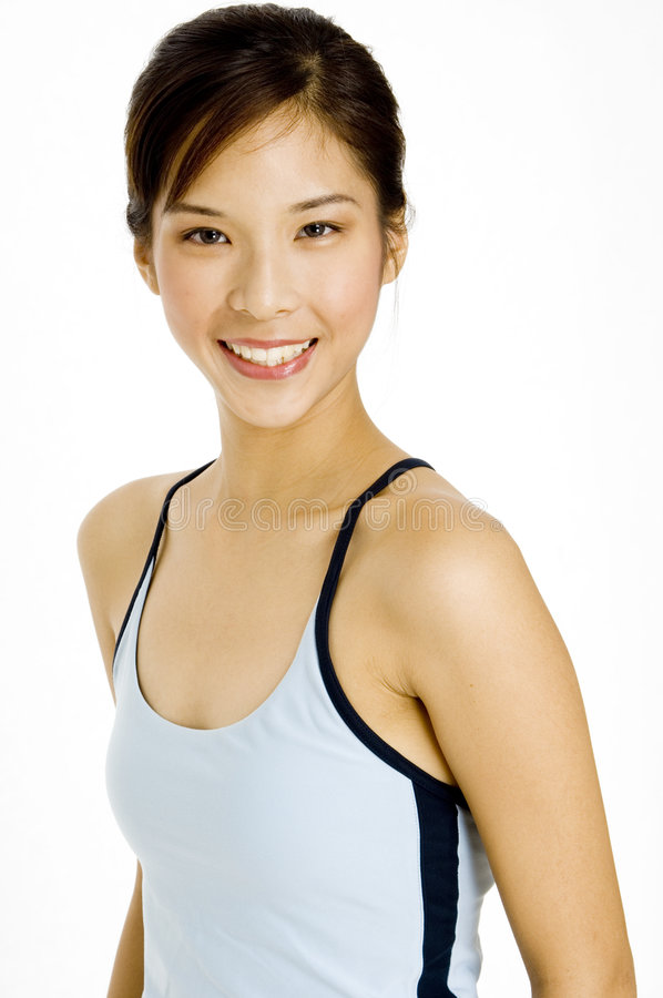微笑的健身讲师 图库摄影