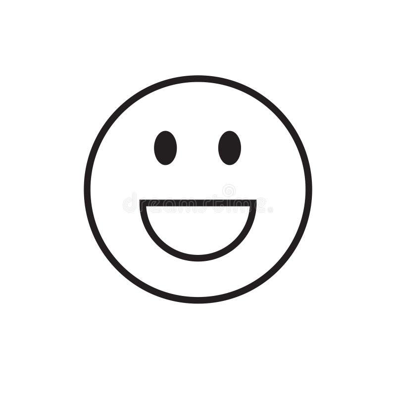 微笑的动画片面孔正面人情感象 向量例证