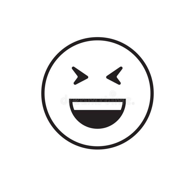 微笑的动画片面孔笑正面人情感打开嘴象 库存例证