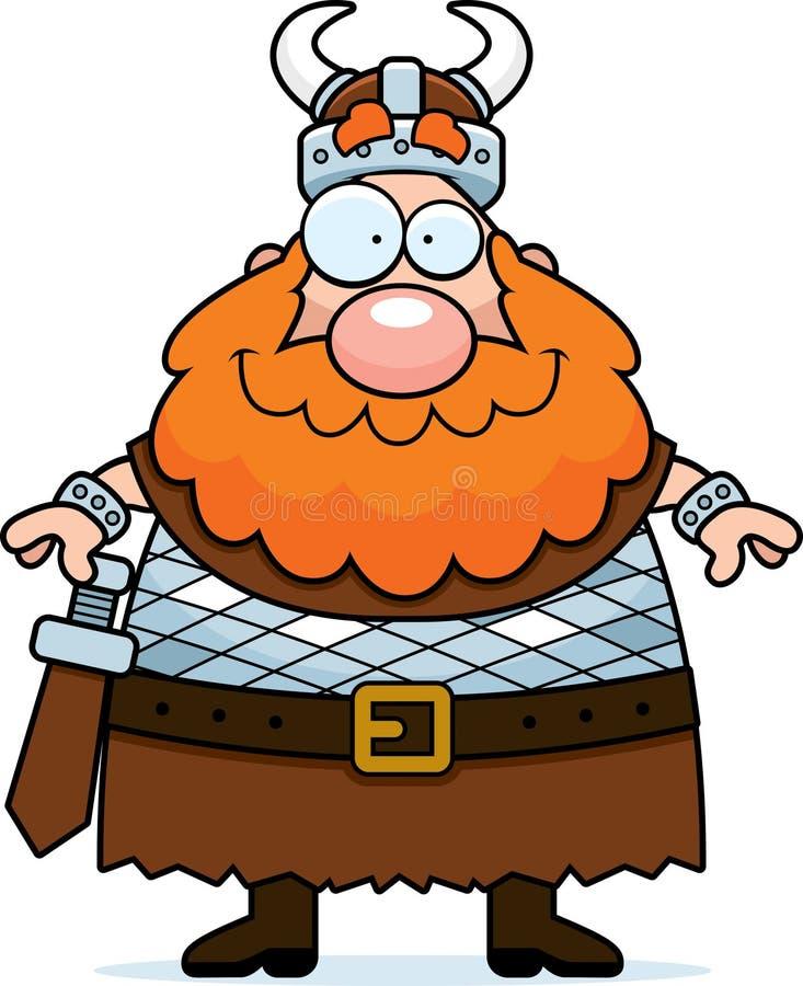 微笑的北欧海盗 库存例证