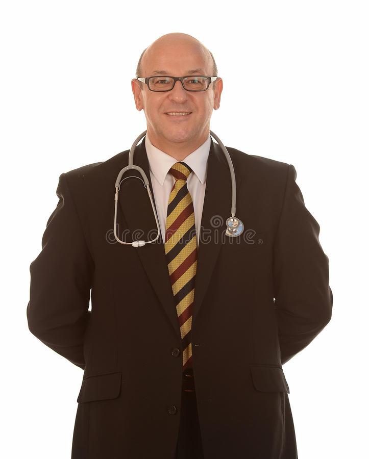 微笑的医生 库存照片