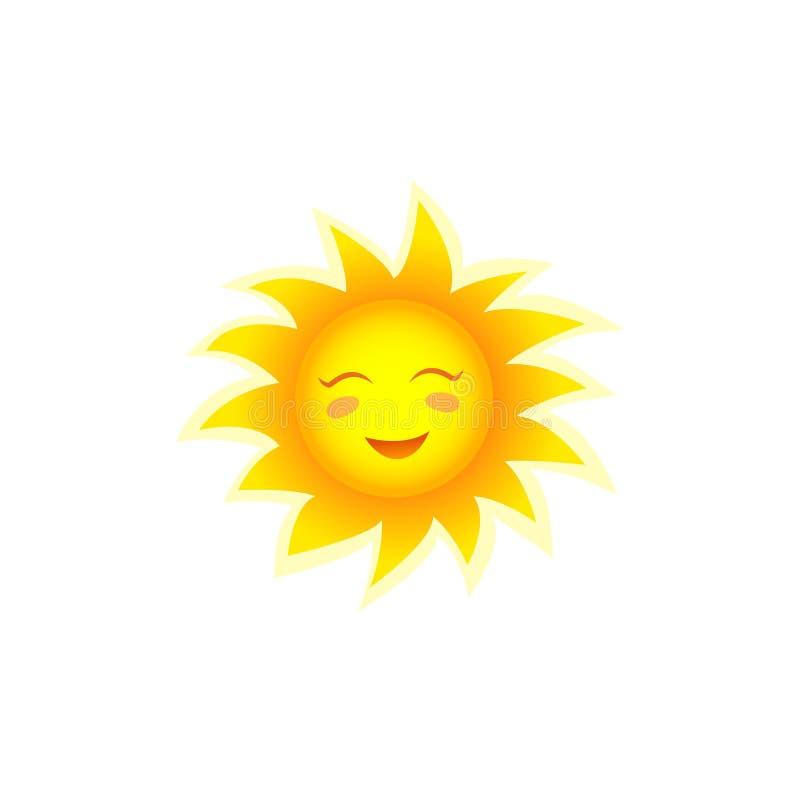 微笑的太阳传染媒介例证 库存例证