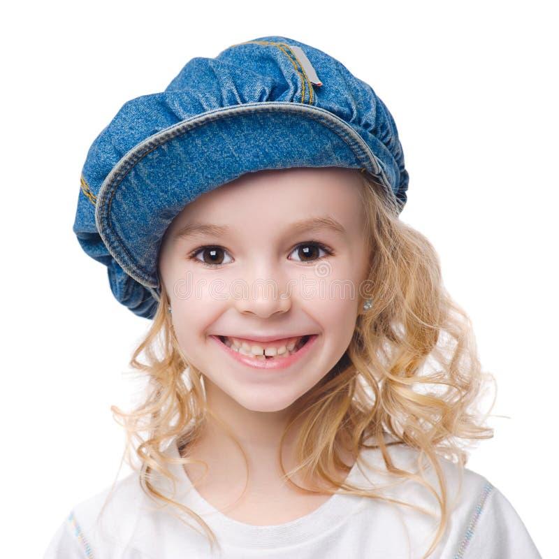 微笑的女孩 库存照片