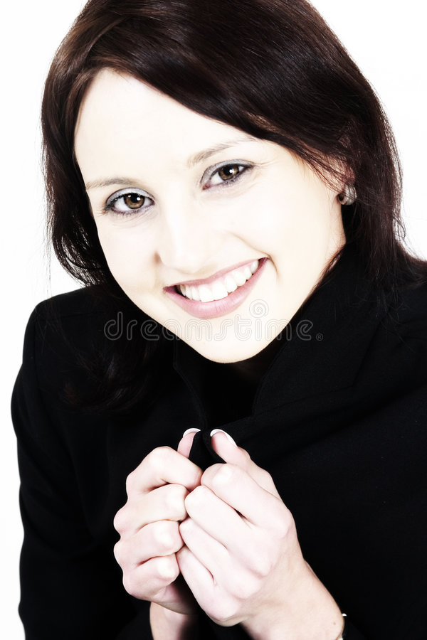 微笑的妇女年轻人 图库摄影