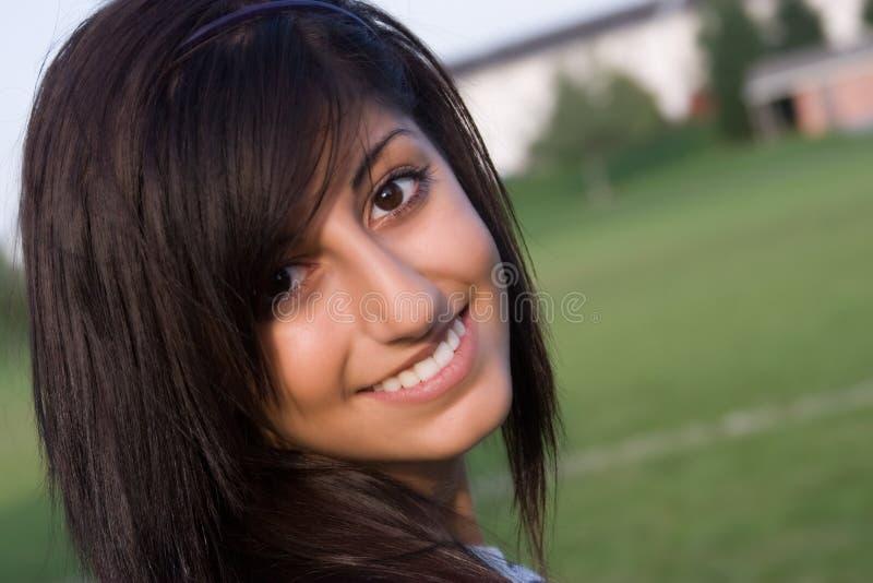 微笑的妇女年轻人 库存照片
