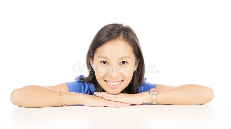 微笑的妇女画象  免版税图库摄影