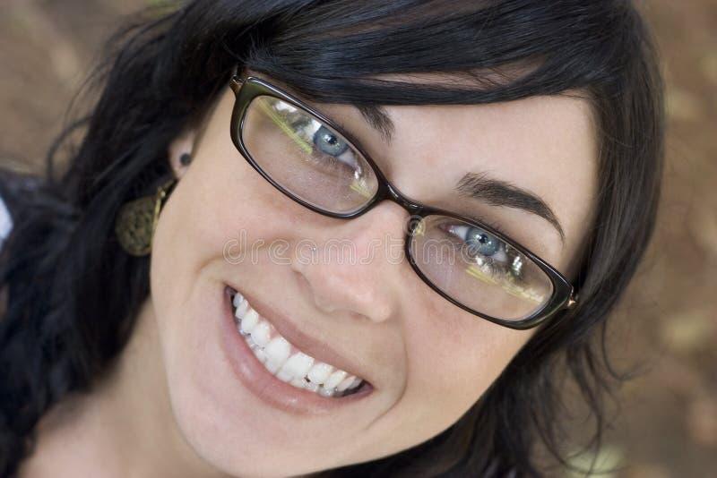 微笑的妇女 免版税库存图片