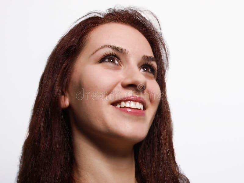 微笑的妇女 图库摄影