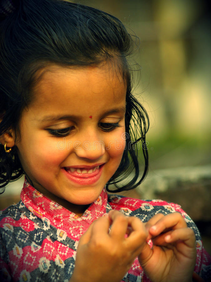 微笑的子项 库存照片