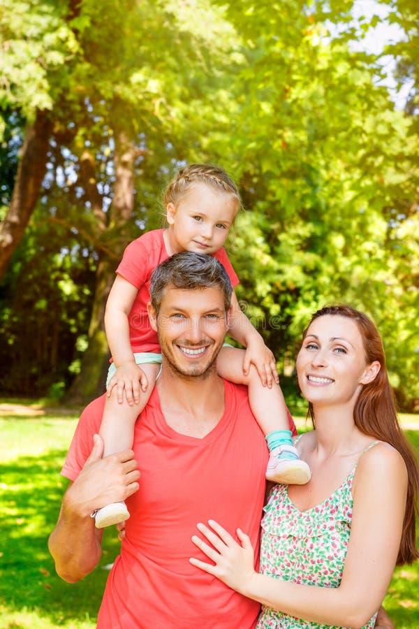 微笑的家庭 库存照片