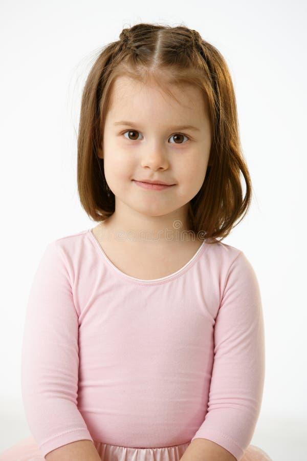 微笑的小女孩画象  免版税库存图片
