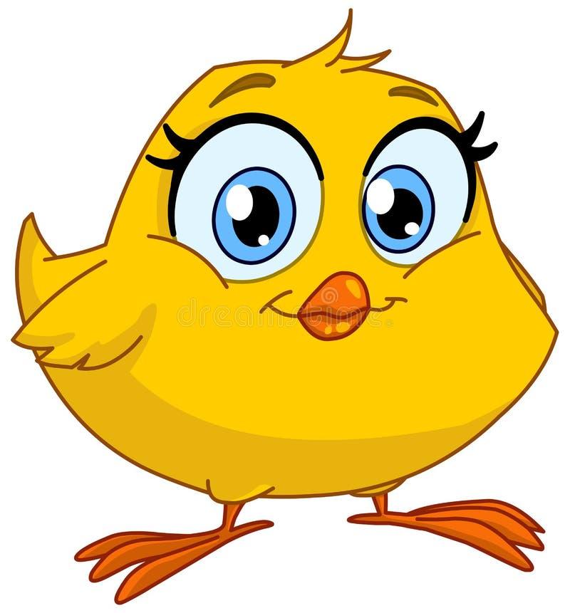 微笑的小鸡 向量例证