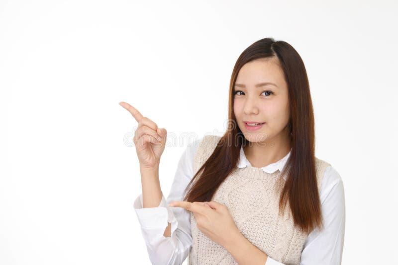 微笑的年轻女人 库存图片