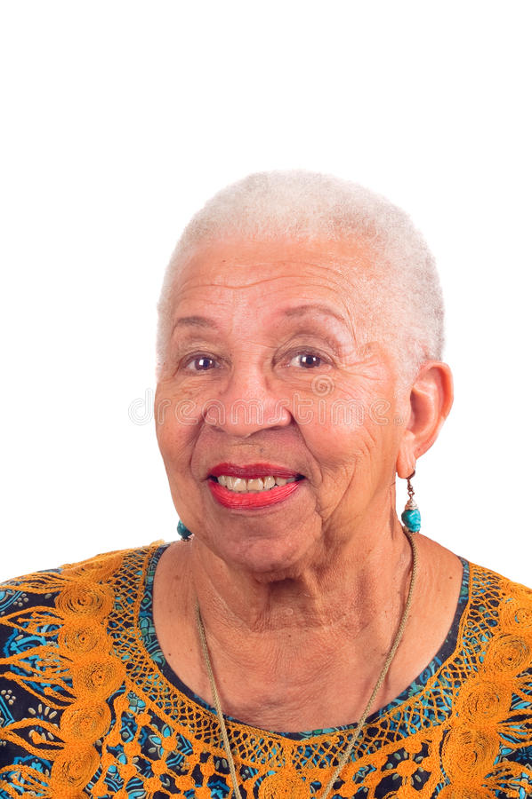 微笑的年长妇女 免版税图库摄影
