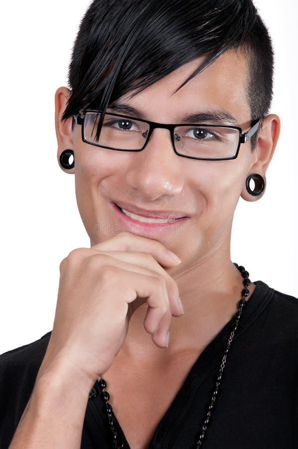 微笑的拉丁美州的男孩 免版税库存图片