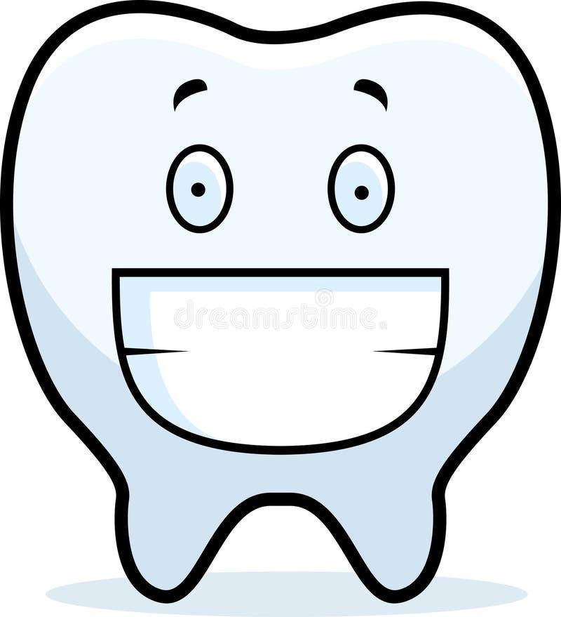 微笑的牙 向量例证