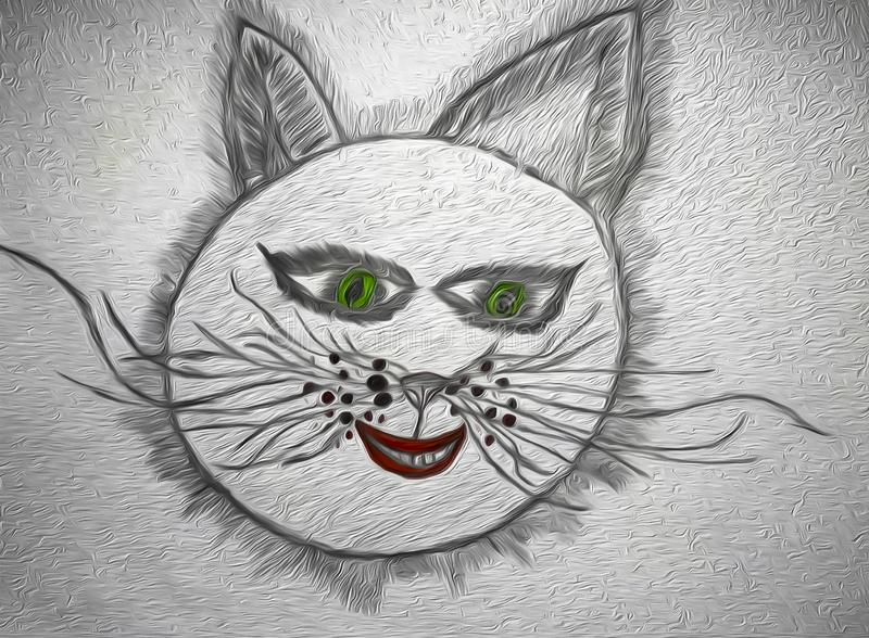 微笑的猫头 库存照片