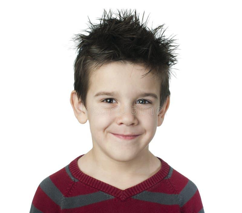 微笑的男孩 库存照片