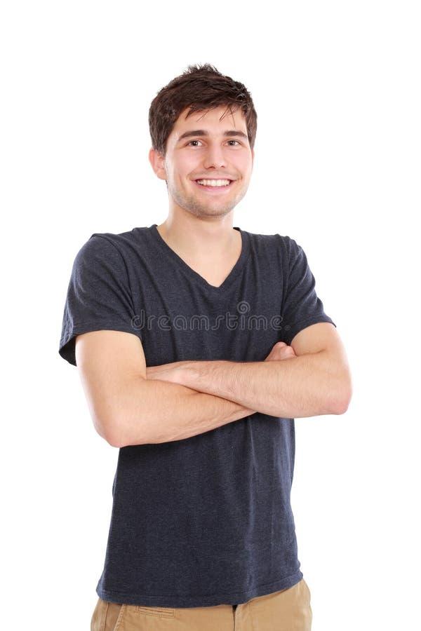 年轻微笑的男性画象 库存图片