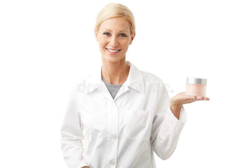 微笑的秀丽治疗师 免版税库存照片