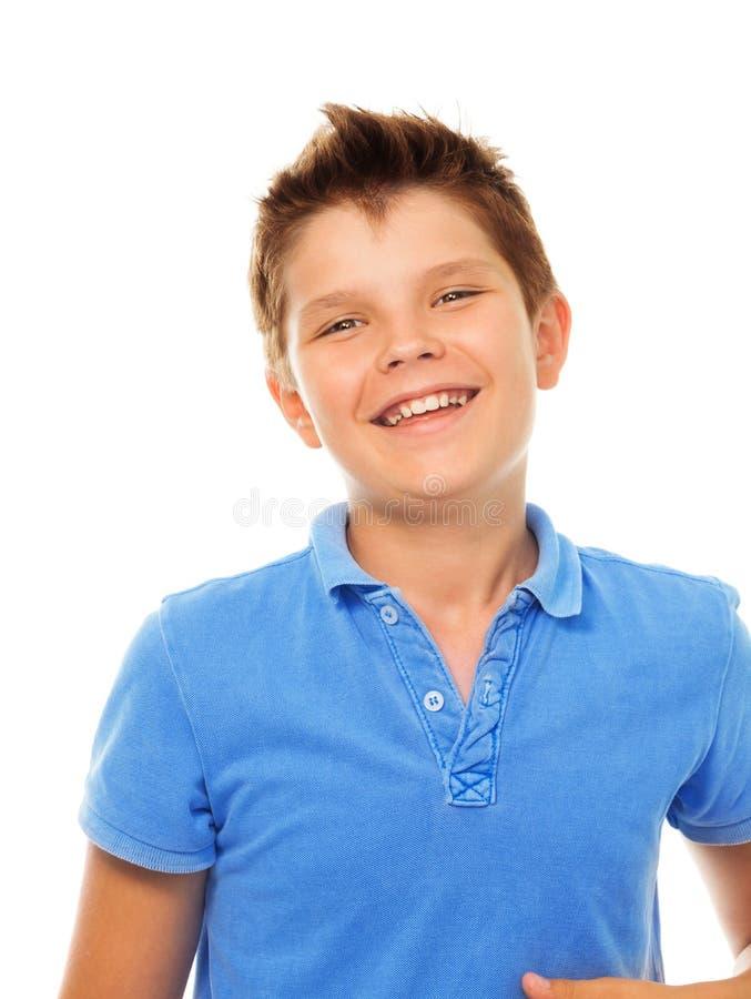 微笑的笑的男孩 库存图片