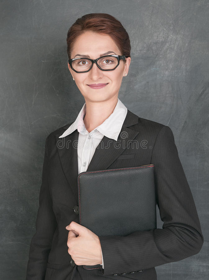 微笑的老师 免版税库存图片