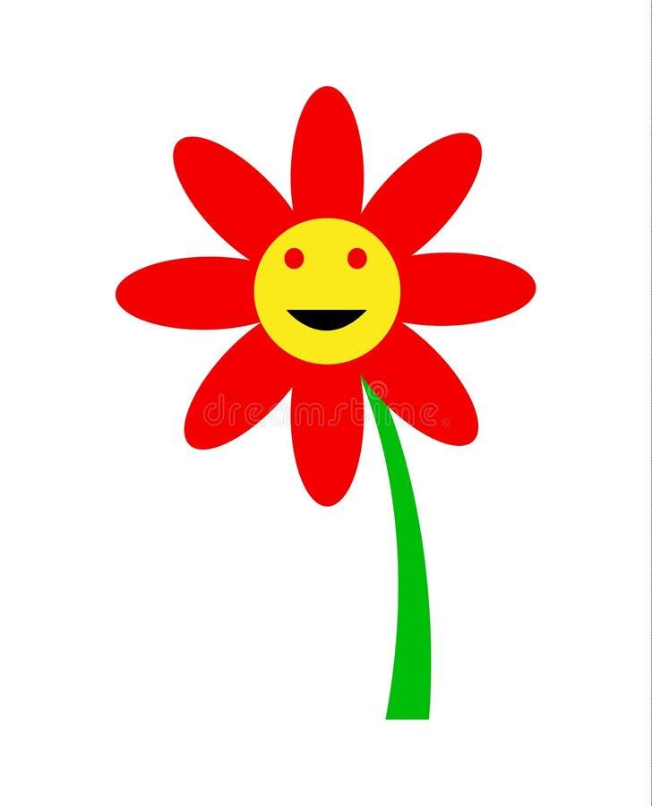 微笑的花动画片传染媒介例证 向量例证