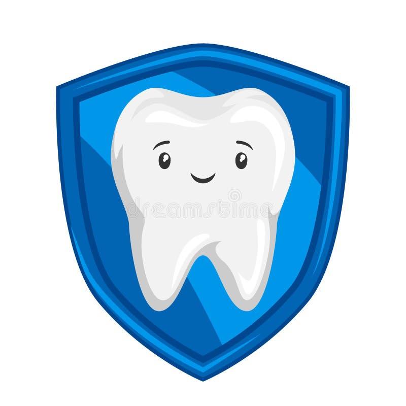微笑的被保护的健康牙的例证 皇族释放例证