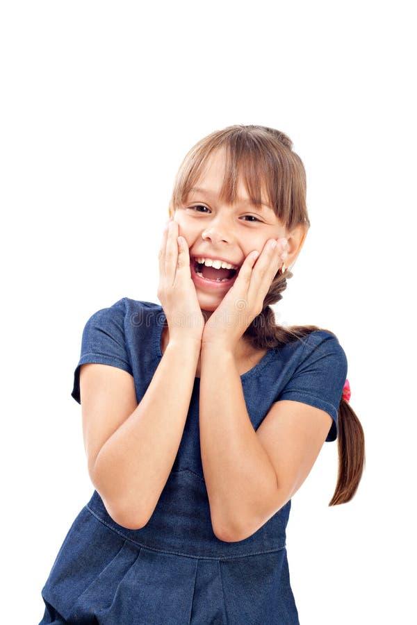 微笑的逗人喜爱的女孩 库存图片