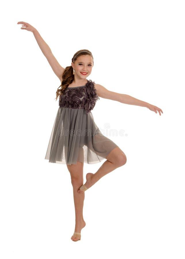 微笑的青少年的抒情舞蹈家 库存图片